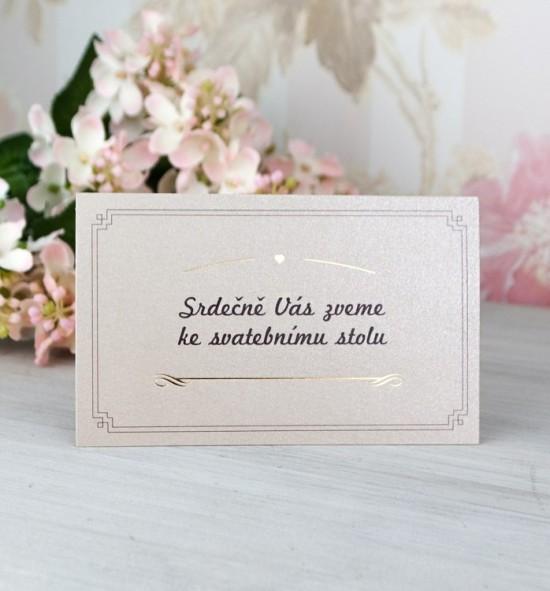 Pozvánka ke svatebnímu stolu P2063