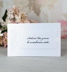 Pozvánka ke svatebnímu stolu P2068A