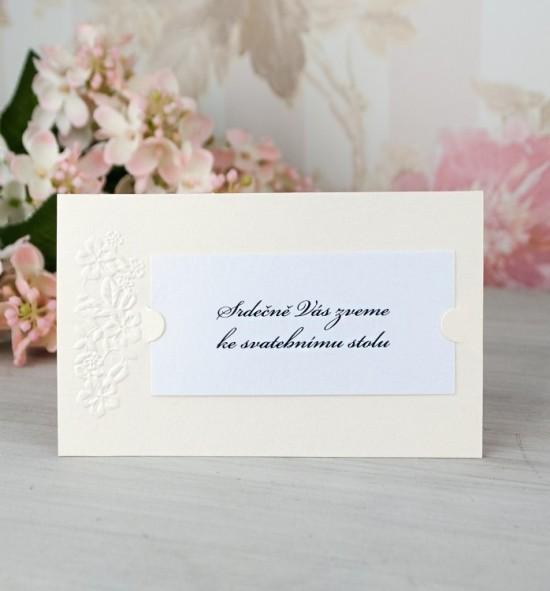 Pozvánka ke svatebnímu stolu P2068B