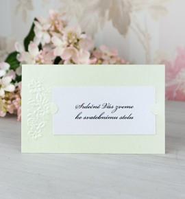 Pozvánka ke svatebnímu stolu P2068C