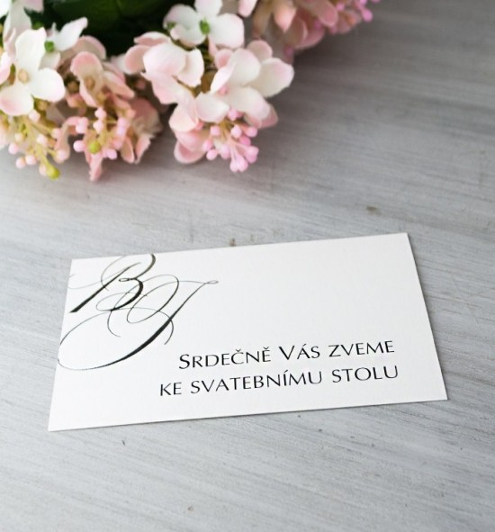 Pozvánka ke svatebnímu stolu P2074