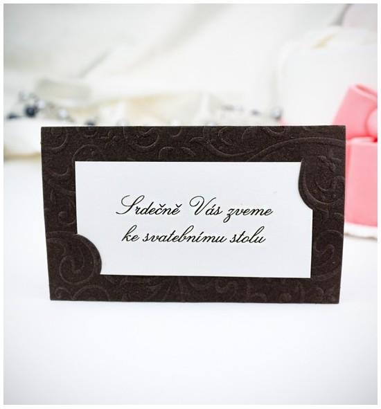 Pozvánka ke svatebnímu stolu P910A
