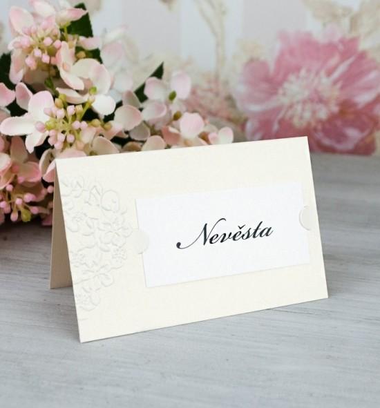 Svatební jmenovka J2086B