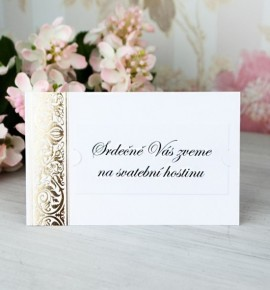 Pozvánka ke svatebnímu stolu P2064