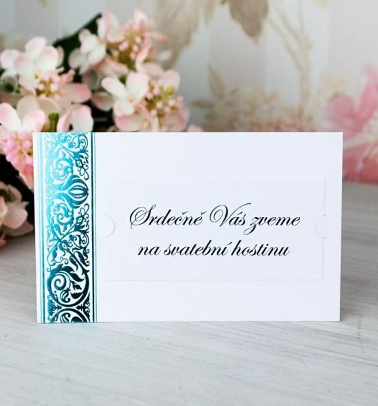 Pozvánka ke svatebnímu stolu P2064B