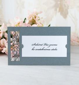 Pozvánka ke svatebnímu stolu P2067
