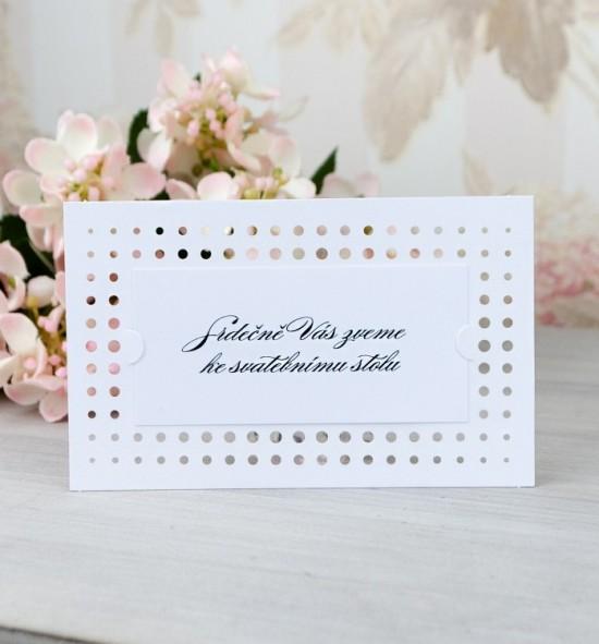 Pozvánka ke svatebnímu stolu P2069