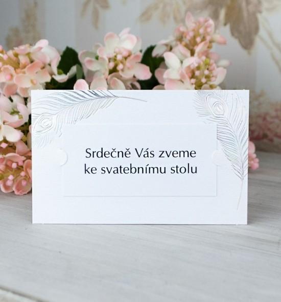 Pozvánka ke svatebnímu stolu P2070