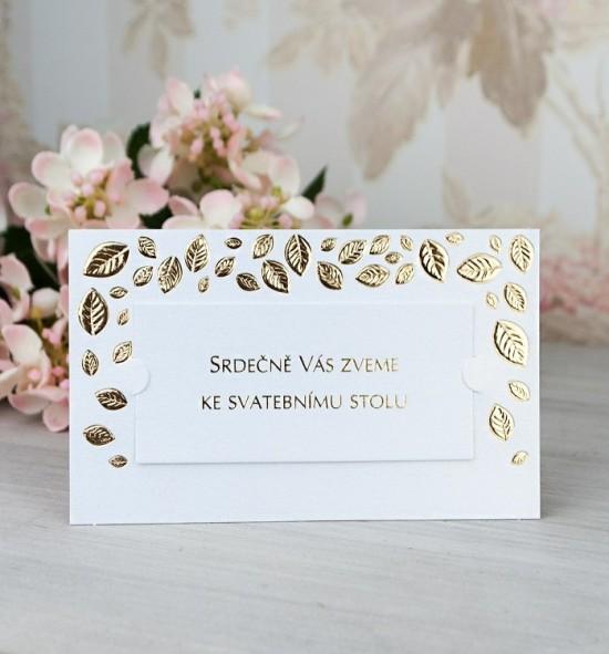 Pozvánka ke svatebnímu stolu P2072