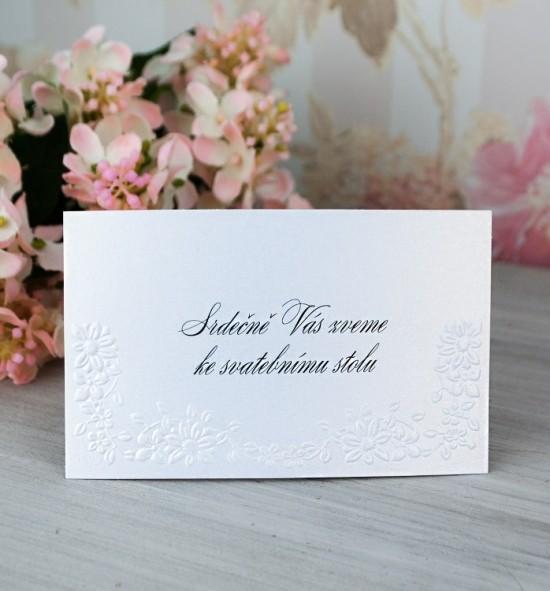 Pozvánka ke svatebnímu stolu P2073