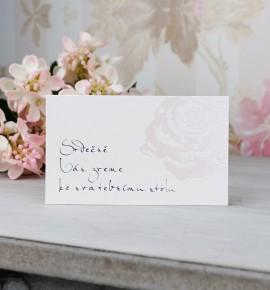 Pozvánka ke svatebnímu stolu P2077B