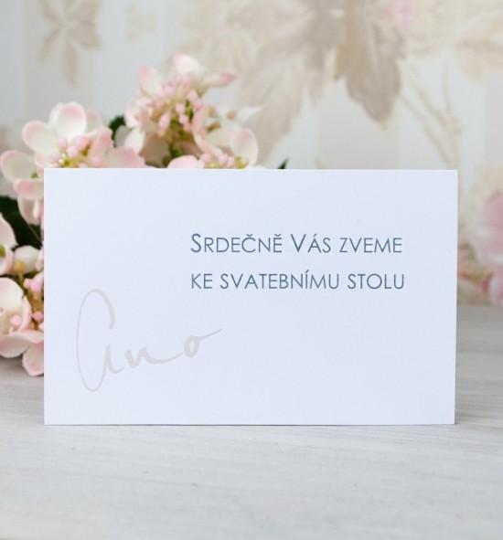 Pozvánka ke svatebnímu stolu P2083