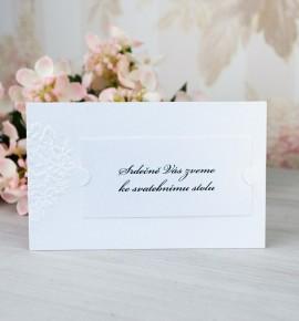 Pozvánka ke svatebnímu stolu P2086