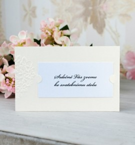 Pozvánka ke svatebnímu stolu P2086B