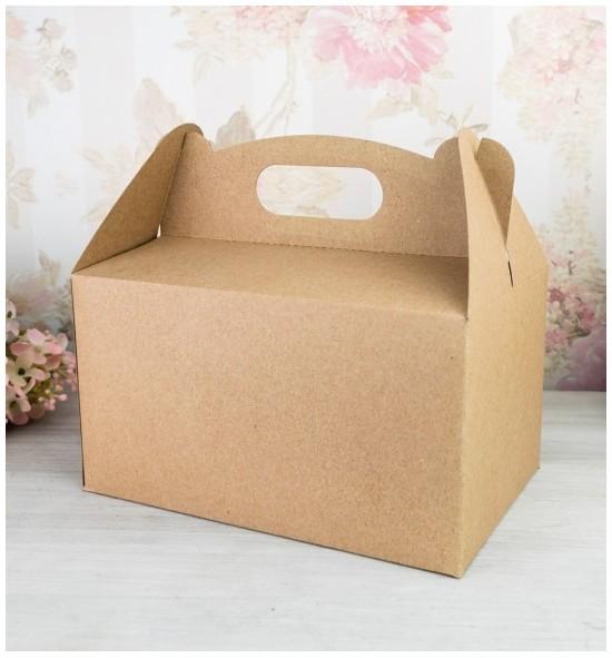 Svatební krabička na výslužku střední z recyklovaného papíru - K63-5000-10