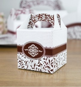 Svatební krabička na dárky/mandličky - K14-1009