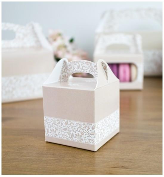 Svatební krabička na dárky/mandličky - K14-2045