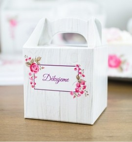 Svatební krabička na dárky/mandličky - K14-2090