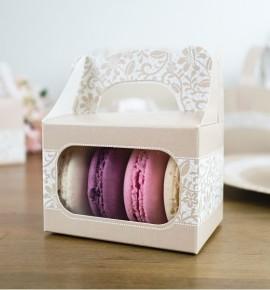 Svatební krabička na makronky - KMR2045