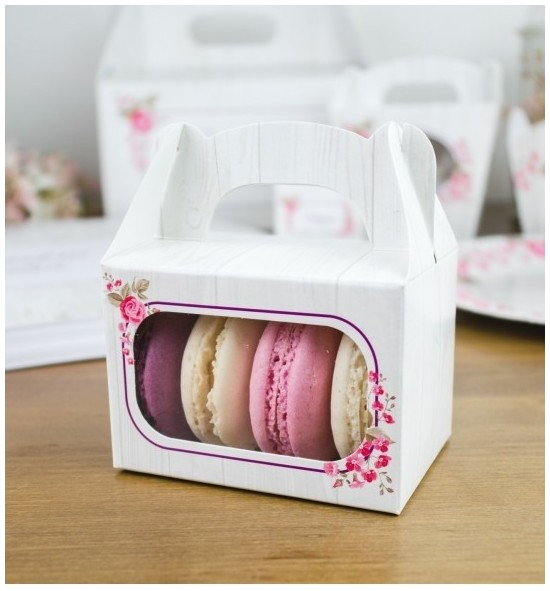 Svatební krabička na makronky - KMR2090