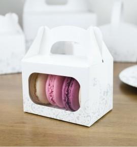 Svatební krabička na makronky - KMR2092
