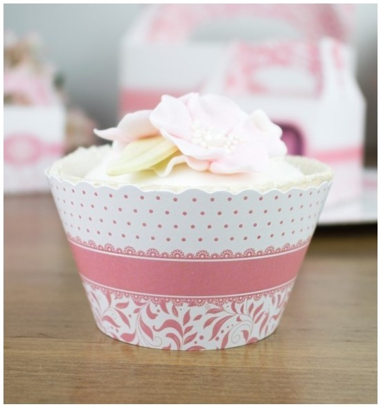 Svatební košíčky na cupcakes - CC1003
