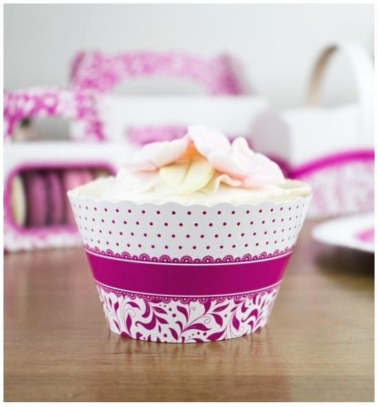 Svatební košíčky na cupcakes - CC1004