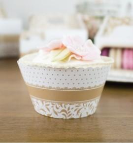 Svatební košíčky na cupcakes - CC1007