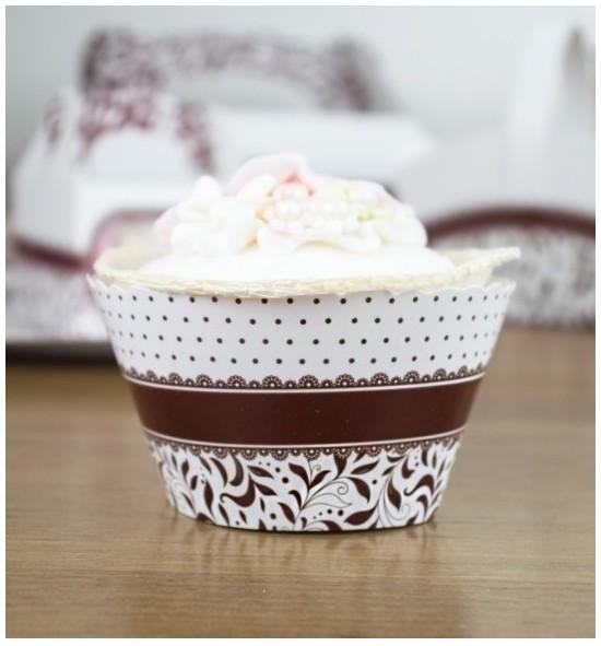 Svatební košíčky na cupcakes - CC1009
