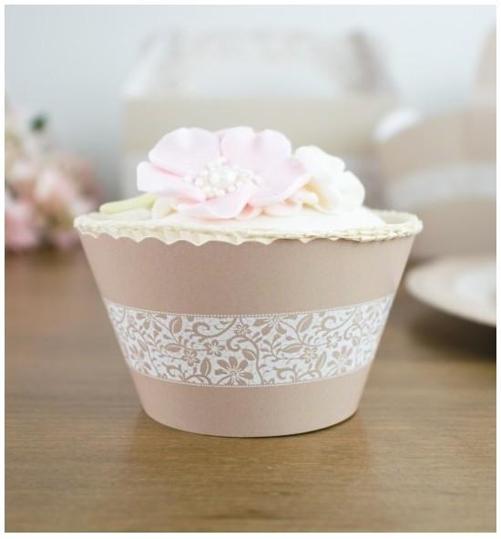 Svatební košíčky na cupcakes - CC2045