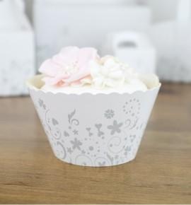 Svatební košíčky na cupcakes - CC2092