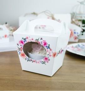Svatební krabička na cupcake - KC2089