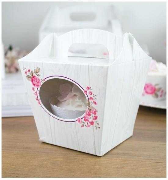 Svatební krabička na cupcake - KC2090