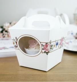 Svatební krabička na cupcake - KC2091