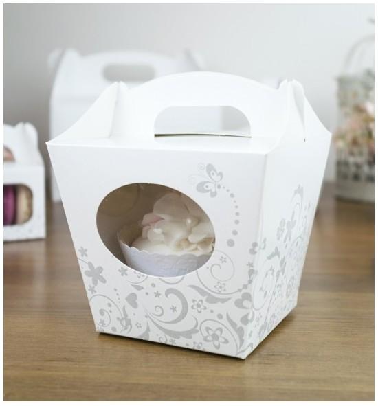 Svatební krabička na cupcake - KC2092