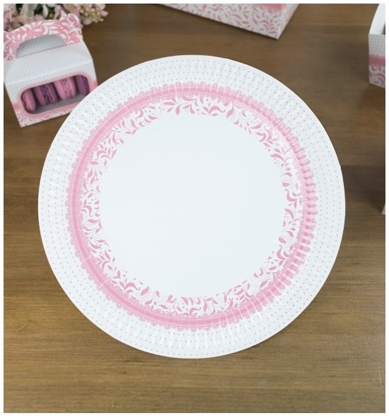 Svatební papírový talíř (8 Ks) - TL01-1003