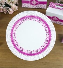 Svatební papírový talíř (8 Ks) - TL01-1004