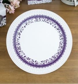 Svatební papírový talíř (8 Ks) - TL01-1006