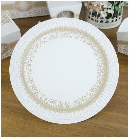 Svatební papírový talíř (8 Ks) - TL01-1007