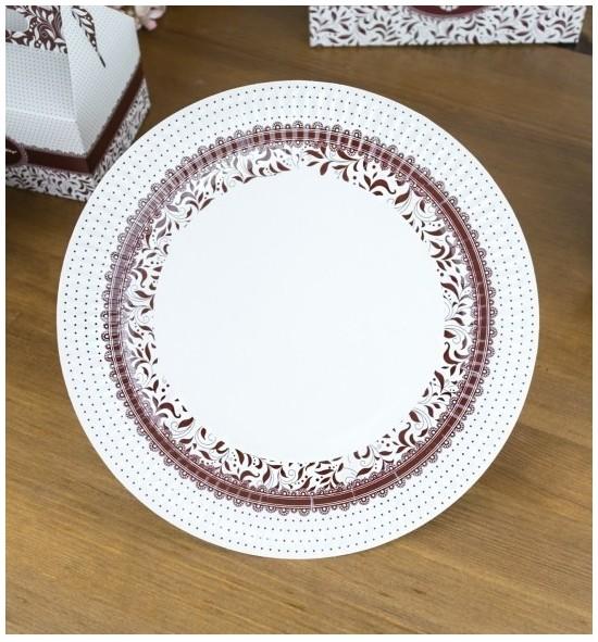 Svatební papírový talíř (8 Ks) - TL01-1009