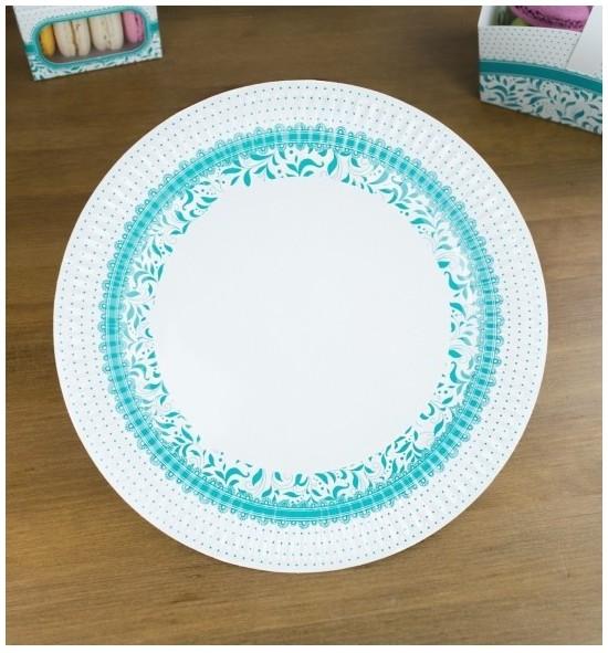Svatební papírový talíř (8 Ks) - TL01-1010