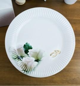 Svatební papírový talíř (8 Ks) - TL01-1054