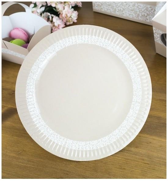 Svatební papírový talíř (8 Ks) - TL01-2045