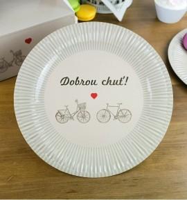 Svatební papírový talíř (8 Ks) - TL01-2063