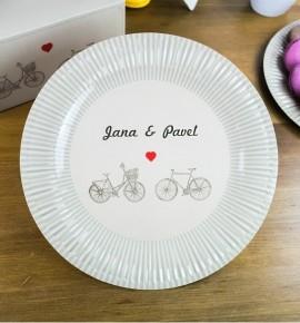 Svatební papírový talíř (8 Ks) - TL01-2063-NM