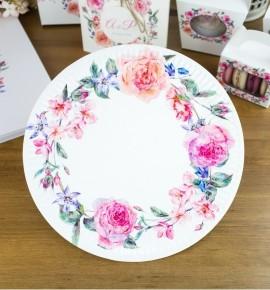 Svatební papírový talíř (8 Ks) - TL01-2089