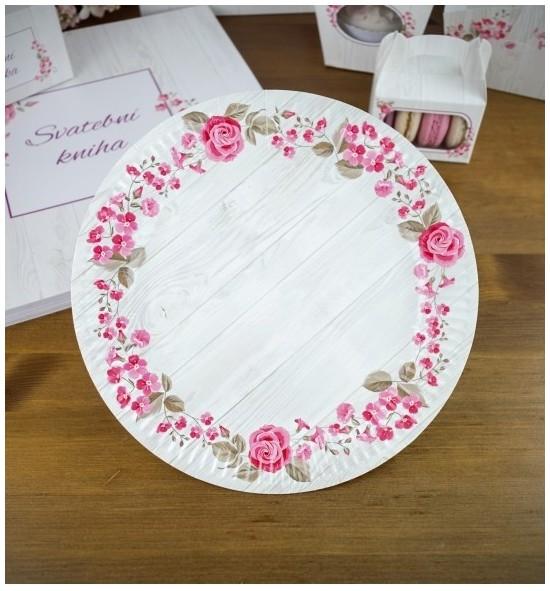 Svatební papírový talíř (8 Ks) - TL01-2090