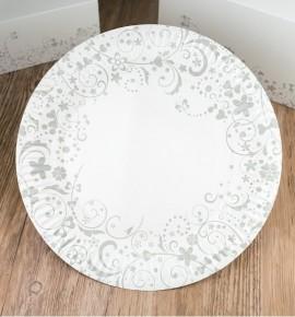 Svatební papírový talíř (8 Ks) - TL01-2092