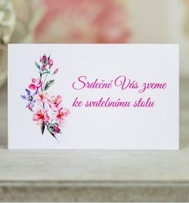 Pozvánka ke svatebnímu stolu P2089