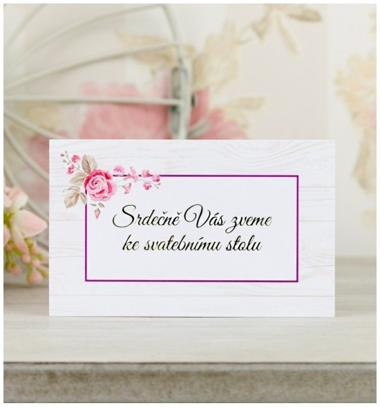 Pozvánka ke svatebnímu stolu P2090